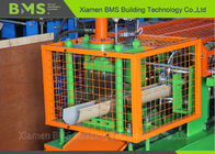 Rainwater System Gutter Custom Roll Forming Machine With Siemens PLC And Security Cover